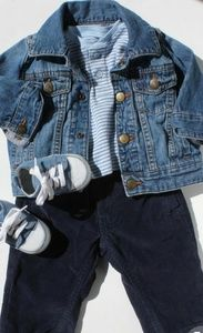 HP!💕The Children's Place Boys' Denim Jacket 3 _6M